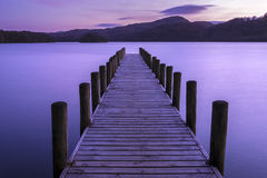 Jetty on Coniston Water Stock Photography