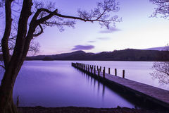 Jetty on Coniston Water in the Lake District Royalty Free Stock Photography