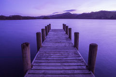 Jetty on Coniston Water in the Lake District Royalty Free Stock Image