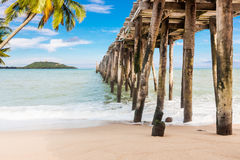 Jetty on daylight Royalty Free Stock Images
