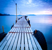 Jetty at dusk Stock Photography