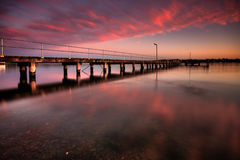 Jetty at Dusk. Speers Point Jetty at Dusk Royalty Free Stock Photo
