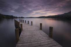 Jetty at dusk Royalty Free Stock Photos
