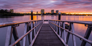 Jetty  by Dusk. Picture of Jetty at Dusk Stock Photo