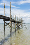 Jetty for fishing in Gironde Medoc Stock Image