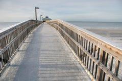Jetty, Florida, Junuary 2007. A bridge on the sea in th west coast of Florida Stock Photography
