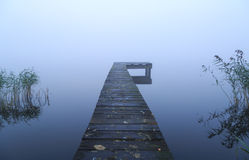Jetty and fog Stock Image