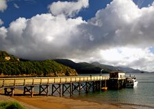 Jetty. French Pass.NZ Royalty Free Stock Images