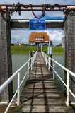 Jetty in harbour of Langeoog Royalty Free Stock Images