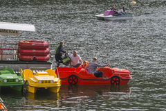 Jetty i następu łodzie Zdjęcia Royalty Free