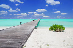 Jetty In The Maldives Royalty Free Stock Images