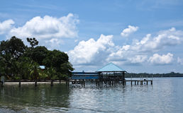 Jetty in Isla Colon Stock Photography