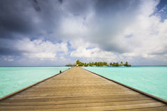 jetty and island Royalty Free Stock Photography