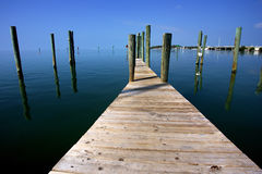 Jetty in key west Stock Photos