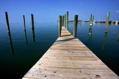 jetty kluczowy zachód zdjęcia stock