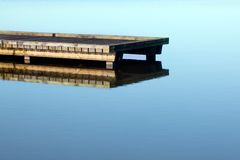 Jetty on lake Stock Images
