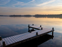Jetty at lake Stock Images