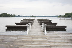 Jetty in lake absence Royalty Free Stock Photo