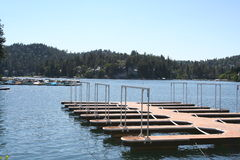 Jetty, Lake Arrowhead. A picture of a jetty at Lake Arrowhead, Ca Royalty Free Stock Photos
