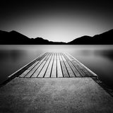 Jetty on a lake in Austria Stock Photos