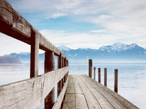 Jetty on lake chiemsee (83) Royalty Free Stock Photo
