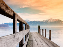 Jetty on lake chiemsee (85) Royalty Free Stock Images