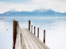 Jetty on lake chiemsee (87) Royalty Free Stock Images