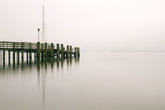 Jetty at lake Chiemsee, Germany Royalty Free Stock Photography