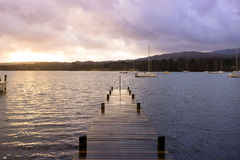 Jetty in Lake District national park, England, UK Royalty Free Stock Photography