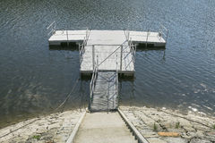 Jetty on the Lake. Empty Jetty  on the lake in Roznow , Poland Royalty Free Stock Photo