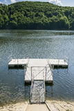Jetty on the Lake. Empty Jetty  on the lake in Roznow , Poland Royalty Free Stock Images