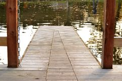 Jetty on the lake royalty free stock images