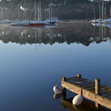 Jetty on lake Royalty Free Stock Photography
