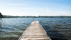 Jetty on a Lake Stock Images
