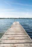 Jetty on a Lake Royalty Free Stock Photo