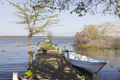 Jetty at Lake Naivasha, Kenya Royalty Free Stock Photo