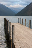 Jetty at lake Rotoiti Royalty Free Stock Photo