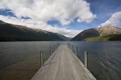 Jetty on Lake Rotoiti, Tasman, New Zealand Royalty Free Stock Images