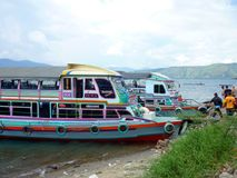 Jetty in Lake Toba Sumatra Indonesia Royalty Free Stock Photo