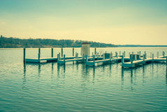 Jetty on a lake Royalty Free Stock Images