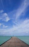Jetty in Lam Ya cape Stock Image