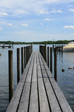 Jetty. Landing stage on a lake in bavaria with some ducks Royalty Free Stock Photos