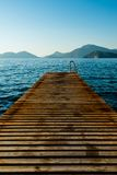 Jetty leading to an island Royalty Free Stock Images