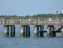 Jetty at Lewes, Delaware. Lewes Ferry port to Cape May, New Jersey, USA Stock Photo