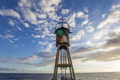 Jetty and lighthouse in Saint-Pierre, La Reunion island Royalty Free Stock Photography