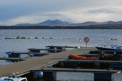 Jetty on Loch Indall, Bowmore, Scotland Stock Image