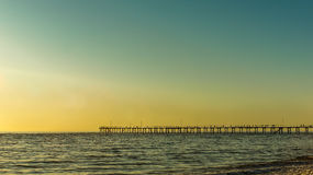The jetty. Look from faraway Stock Images