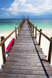 Jetty looking out to paradise. Stock Images