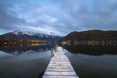 The Jetty. Low Wood jetty near Queenstown Royalty Free Stock Photo