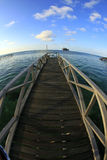 A jetty of mabul island Stock Image